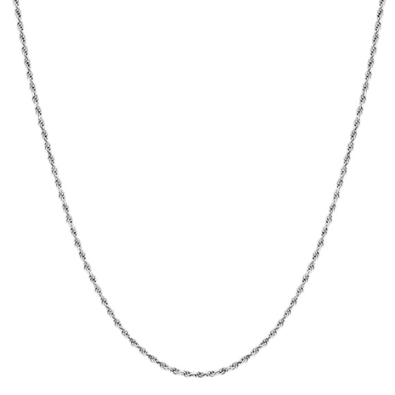 24 inch Mens Sterling Silver Rope Chain