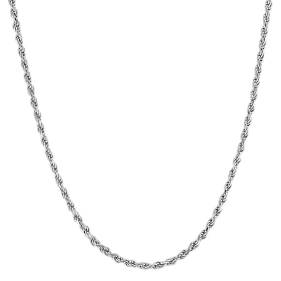 Sterling Silver Rope Necklace (24 in)