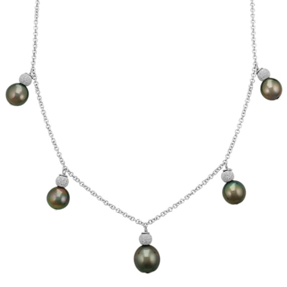 Sterling silver tahitian pearl pendant necklace 18 in shane co sterling silver tahitian pearl pendant necklace 18 in aloadofball Gallery