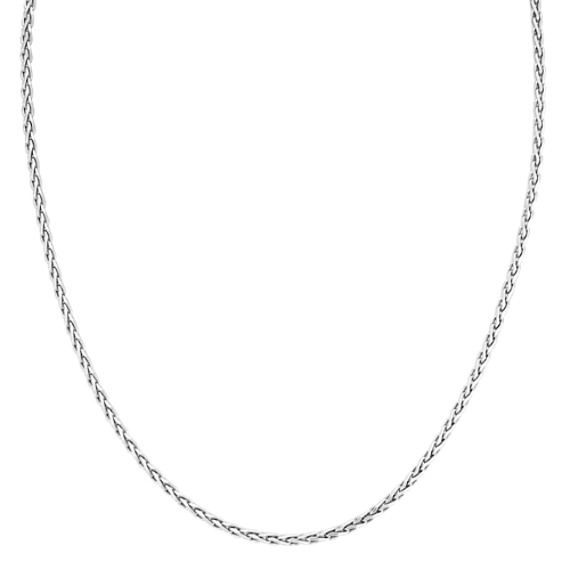 Sterling Silver Wheat Necklace (24 in)