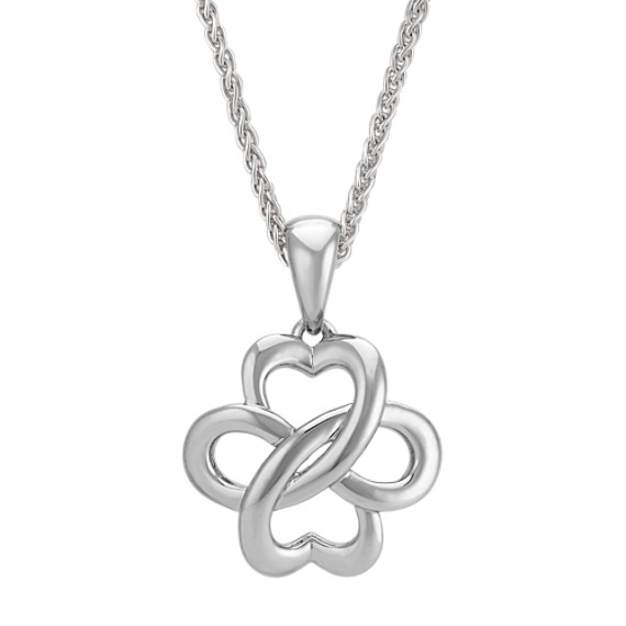 Swirl Heart and Infinity Pendant in Sterling Silver (18 in)