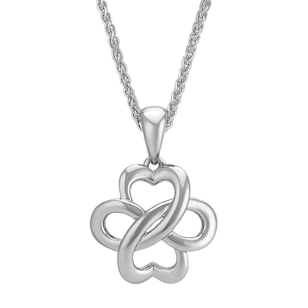 double platinum set round cz plated silver anchor infinity sterling pendant accent necklace