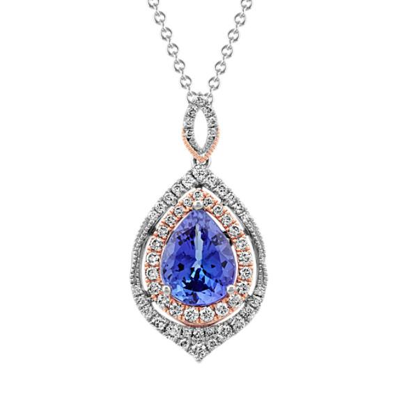 Tanzanite and Diamond Pendant (24 in)