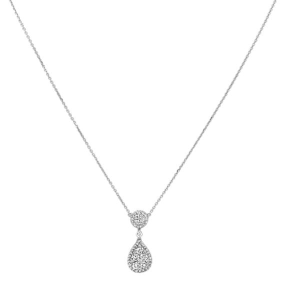 aa4c7a5cd Teardrop Diamond Cluster Necklace (18 in) | Shane Co.