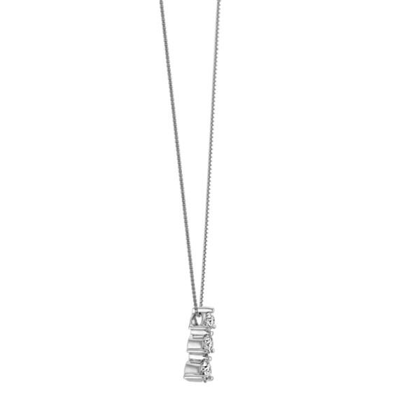 Three-Stone Diamond Pendant (18 in) image