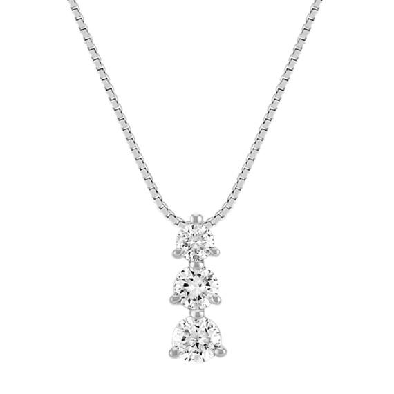 Three-Stone Diamond Pendant (18 in)