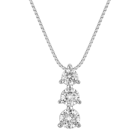 Three-Stone Diamond Pendant (18 in)