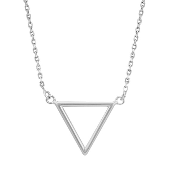 Triangle Necklace in 14k White Gold (16 in)