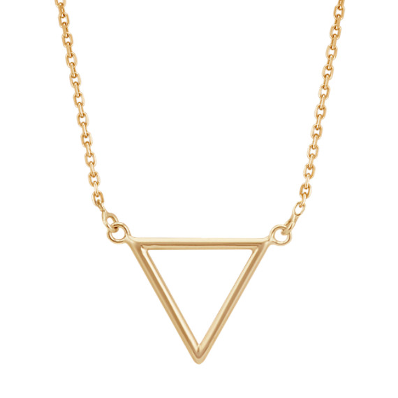 Triangle Necklace in 14k Yellow Gold (16 in)