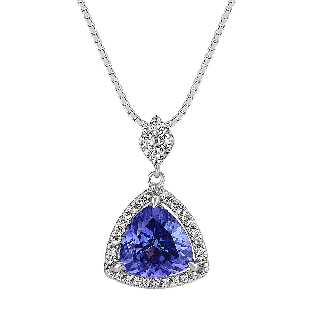 with diamond pendant upon a gold invisible estate products in diamonds once set yellow tanzanite