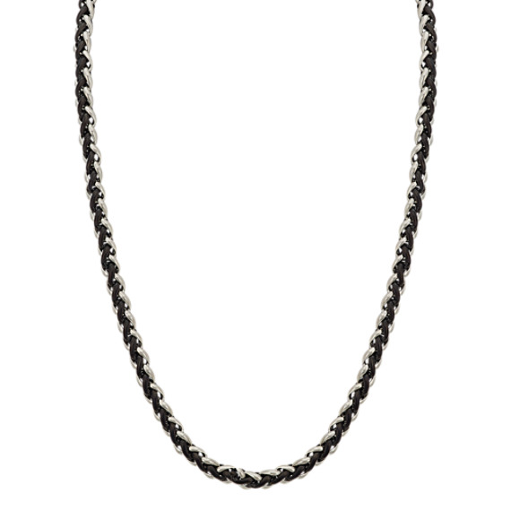 Two-Tone Stainless Steel Necklace (24 in)