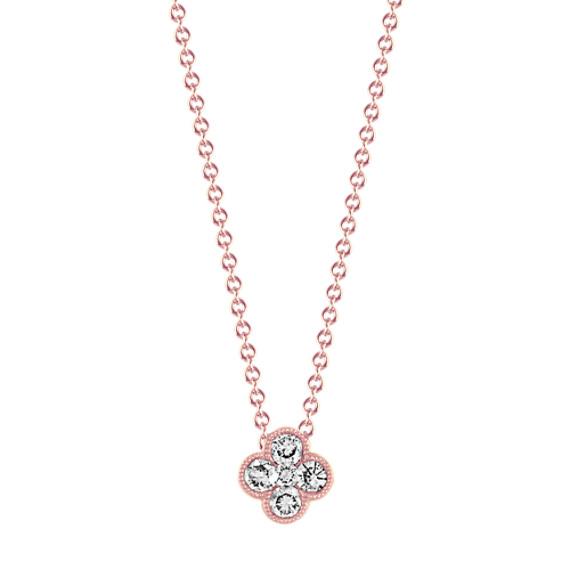 Vintage Diamond Pendant in 14k Rose Gold (24 in)
