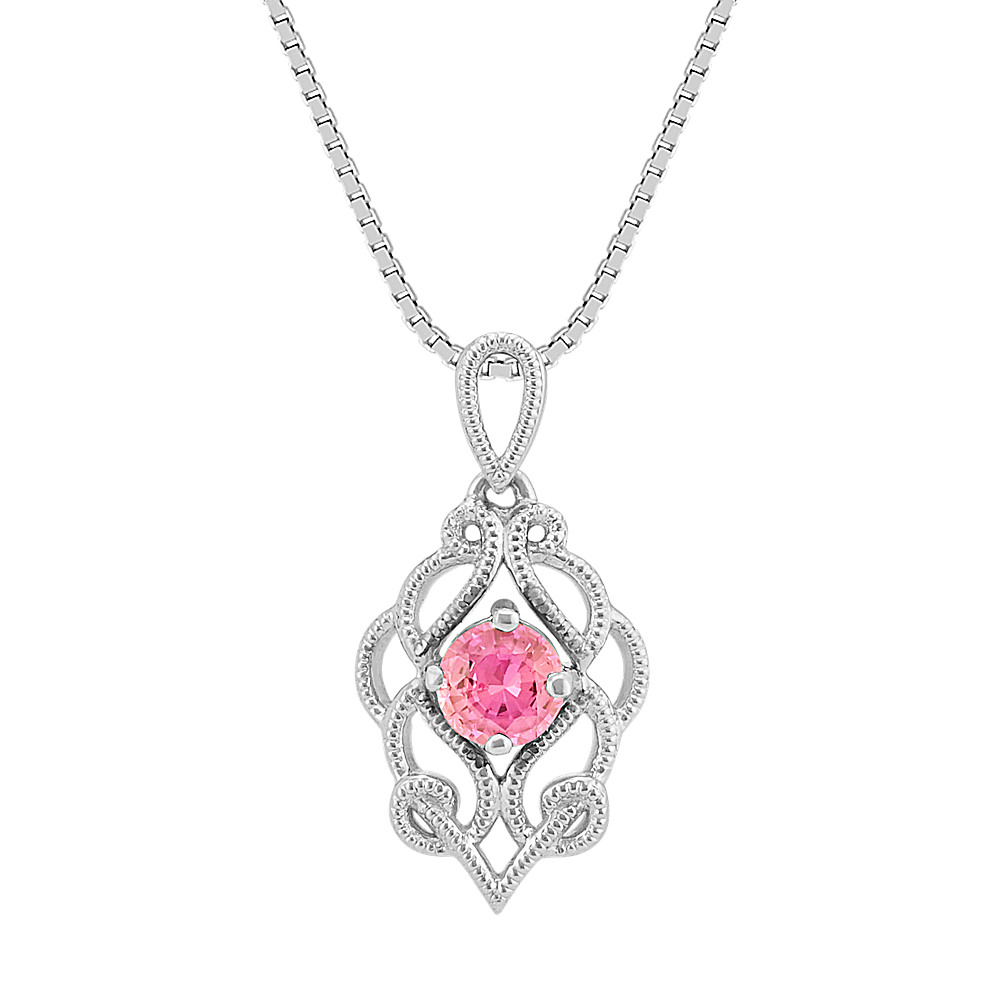 diamond tahitian sapphire and clisson colourd white pink pendant chain gold jewellery design