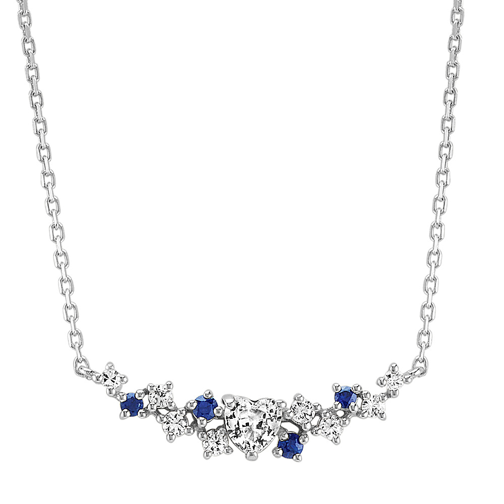 miadora online uk necklace sapphire blue square gold shop products cushion necklac created