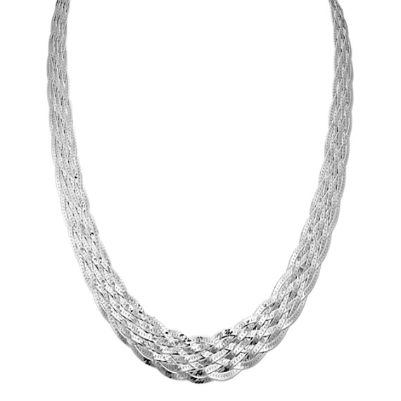 Woven Necklace in Sterling Silver (18 in)