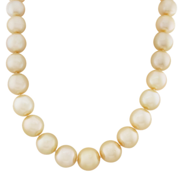 11-14mm Cultured Golden South Sea Pearl Strand (18 in.)