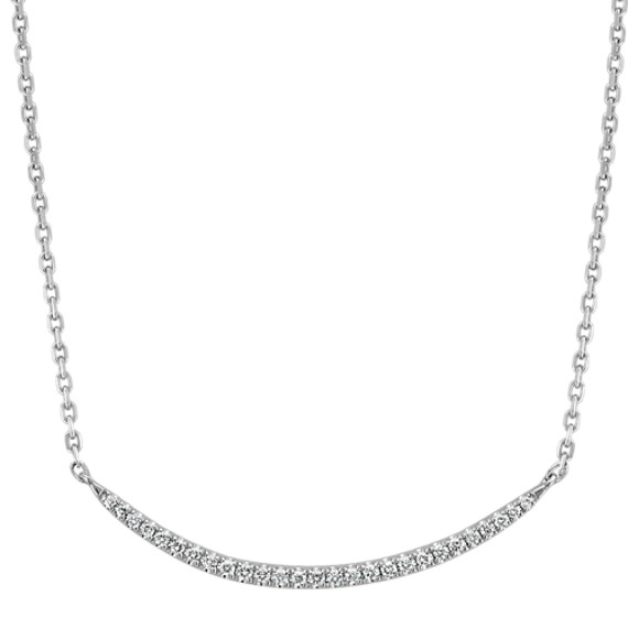 Curved Diamond Necklace (18 in)