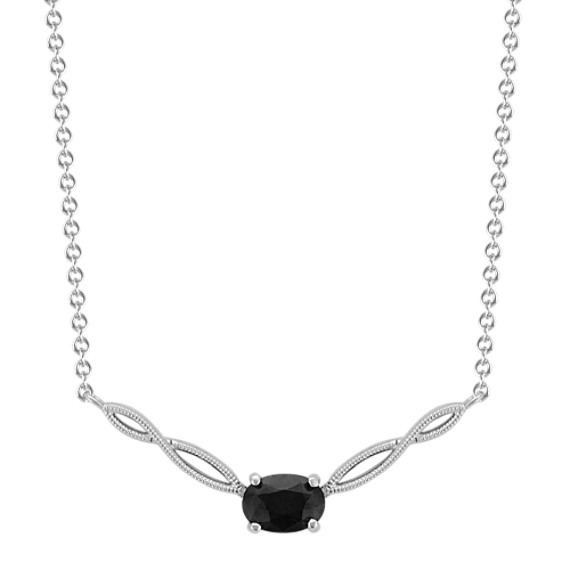 Infinity Black Sapphire Necklace (18 in)