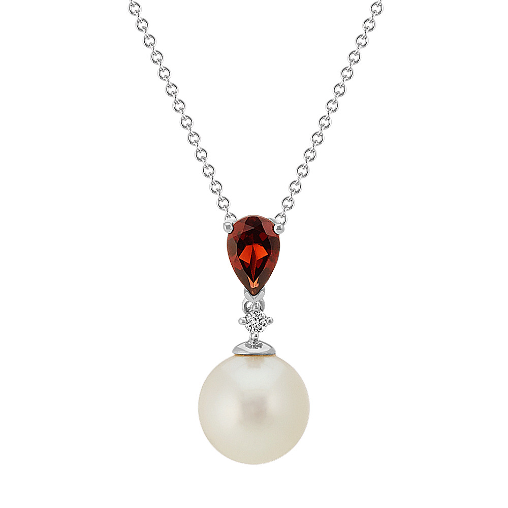 pearl pendant white freshwater diamond gold and winterson button necklace with