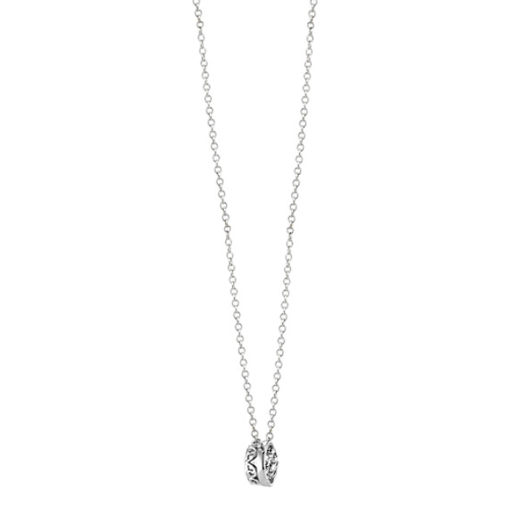 Bezel-Set Round Diamond Necklace (18 in) image