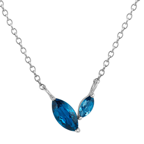 Marquise London Blue Topaz Necklace (18 in)
