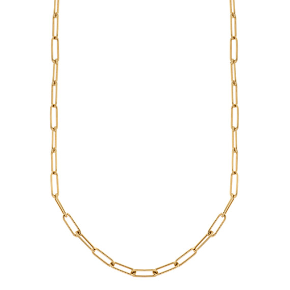 Chain Link Necklace in 14k Yellow Gold (18 in)