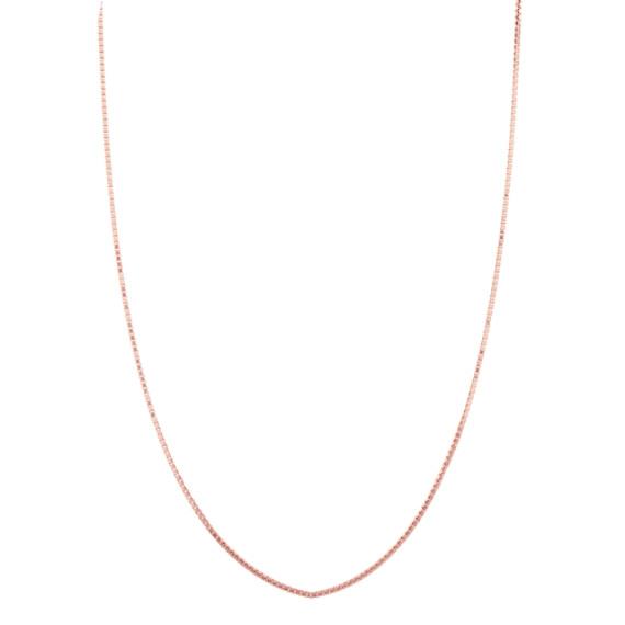Box Chain in 14k Rose Gold (30 in)