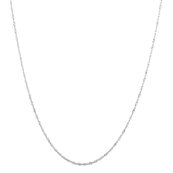 14k White Gold Singapore Chain (30 in)