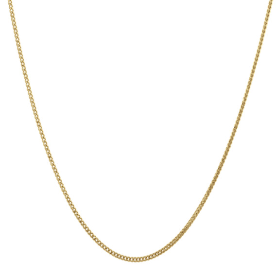 14k Yellow Gold Adjustable Franco Chain (22 in)