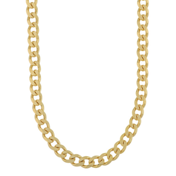 Vermeil 14k Yellow Gold Curb Chain (18 in)