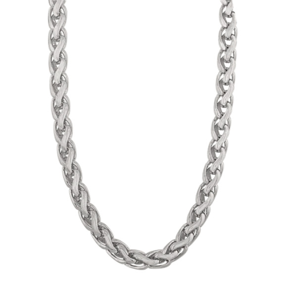 20 Inch Mens Wheat Chain in Sterling Silver