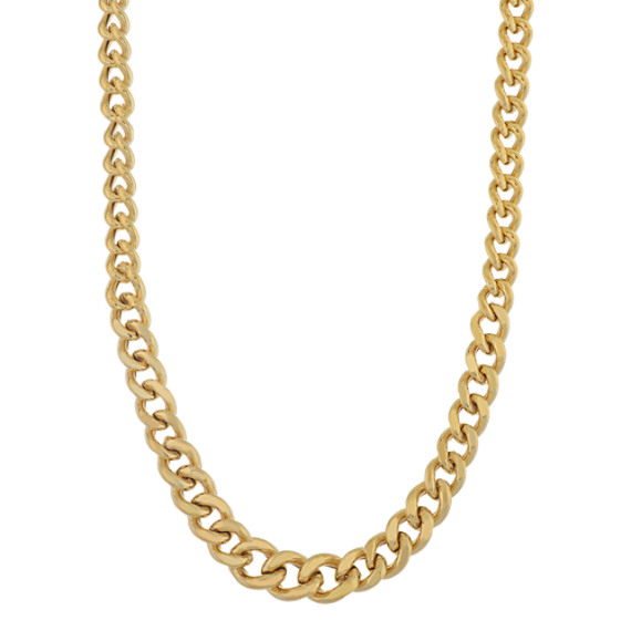 Curb Chain in Vermeil 14K Yellow Gold (18 in)