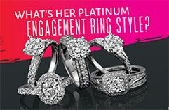 Platinum engagement style infographic