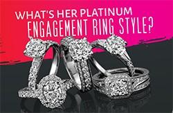 Platinum engagement style infographic
