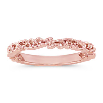Shop Our Beautiful Collection Of Rose Gold Wedding Bands Shane Co