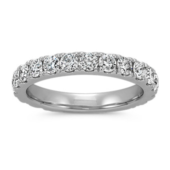 Classic Pave-set Round Diamond Wedding Band