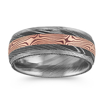 Shop Shane Co S Collection Of Men S Damascus Steel Wedding Bands