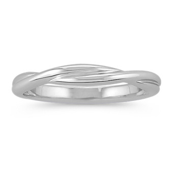 Infinity 14k White Gold Wedding Band