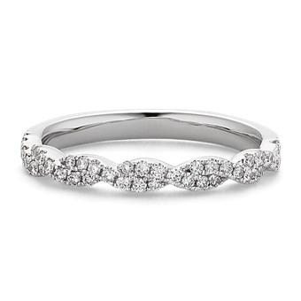 Infinity Twist Pave-Set Diamond Wedding Band