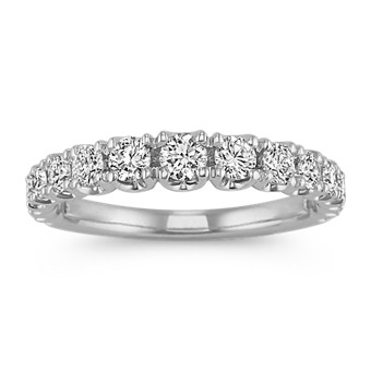 Pave-Set Diamond Wedding Band