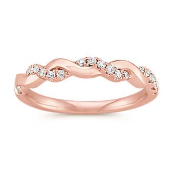 Rose Gold and Diamond Infinity Wedding Band