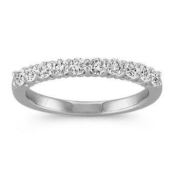 Round Diamond Ten-Stone Wedding Band in Platinum