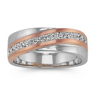 Men S White Gold Wedding Bands At Shane Co