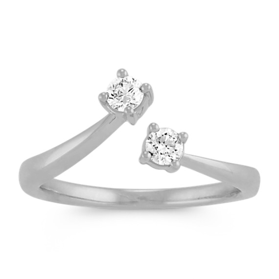 Round Diamond Two Stone Ring
