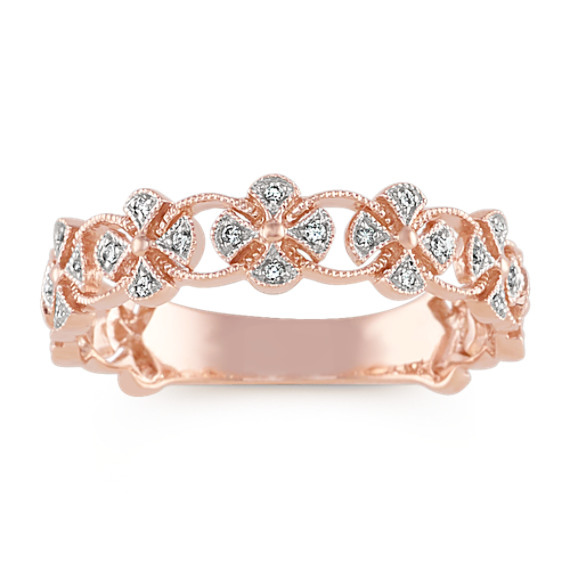 Vintage Diamond Fashion Ring in 14k Rose Gold
