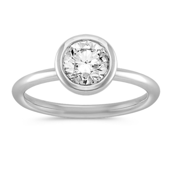 1 ct. Round Center Diamond, Engagement Ring in Bezel Setting
