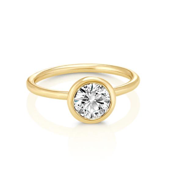 Bezel Set 1 00 Ct Diamond Engagement Ring Shane Co