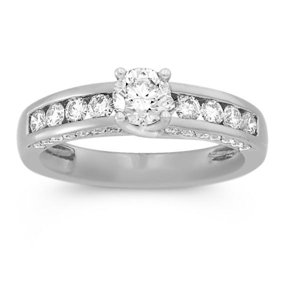 1/2 ct. Round Center Diamond, Engagement Ring
