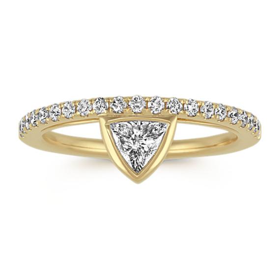1/4 ct. Trillion Cut Center Diamond, Engagement Ring