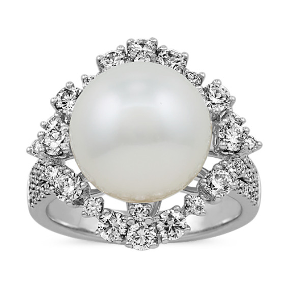 12mm South Sea Pearl and Diamond Ring